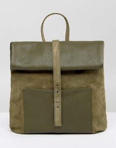 Замшевый рюкзак с ролл-топом ASOS - Зеленый
