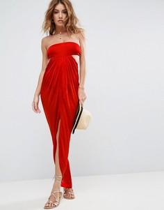Пляжное платье макси бандо ASOS - Красный