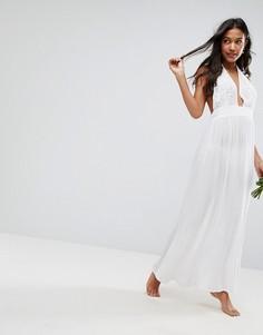 Пляжное платье макси с аппликацией ASOS BRIDAL - Белый