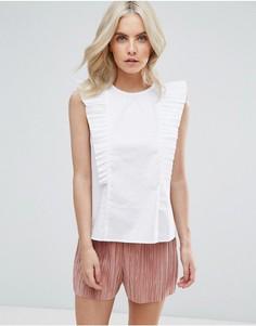 Блузка с оборкой Fashion Union Petite - Белый