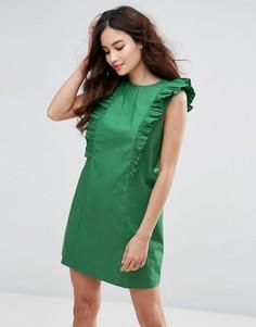 Платье с оборками Fashion Union - Зеленый