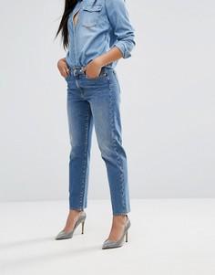 Прямые джинсы в винтажном стиле 7 For All Mankind - Синий