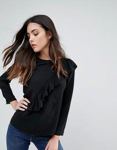 Блузка с рюшами Brave Soul - Черный