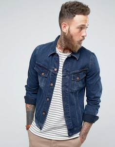 Джинсовая куртка цвета темного индиго Nudie Jeans Co Billy - Синий