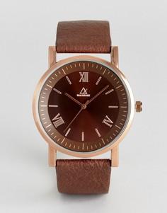 Часы с коричневым ремешком из искусственной кожи и римскими указателями ASOS - Коричневый
