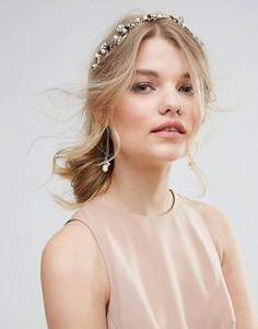 Украшение для волос с отделкой и лентами-завязками ALDO - Золотой