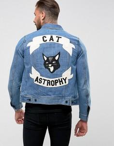 Джинсовая куртка Diesel J-Ashton Catastrophy - Синий