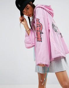 Куртка с вышивкой ASOS Premium - Розовый