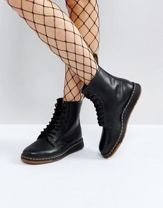 Ботинки с 8 парами люверсов Dr Martens Lite Newton - Черный