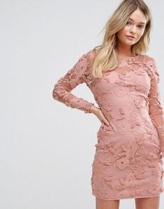 Платье с цветочной аппликацией Parisian - Розовый