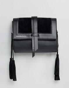 Сумка через плечо с вышивкой на ремешке Silvian Heach - Черный