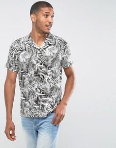 Облегающая рубашка с короткими рукавами и принтом Burton Menswear - Зеленый