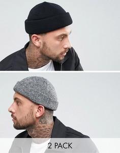 2 шапки-бини ASOS - СКИДКА - Мульти