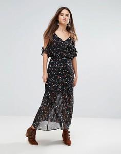 Монохромное платье макси Liquorish - Черный