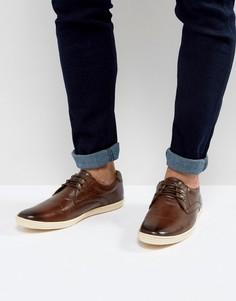 Кожаные туфли Base London Concert - Коричневый