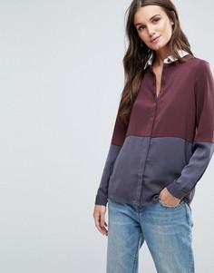 Рубашка в стиле колор блок Y.A.S Camis - Фиолетовый