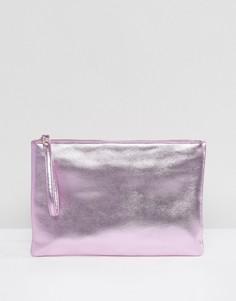 Розовый клатч металлик South Beach - Розовый