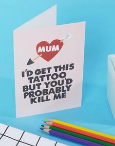 Открытка Jolly Awesome Mum Tattoo - Мульти