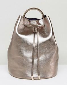 Розово-золотистый рюкзак-мешок Pieces - Золотой
