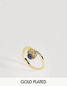 Кольцо с лазуритом - камнем для родившихся в сентябре Rock N Rose - Золотой