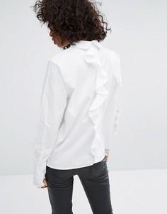 Рубашка с оборкой сзади Noisy May - Белый
