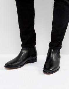 Кожаные ботинки челси Walk London Harrington - Черный