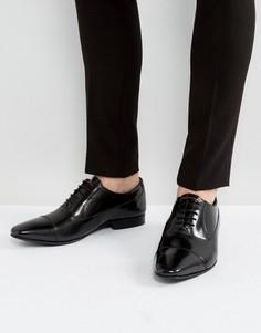 Кожаные оксфордские туфли Walk London City - Черный