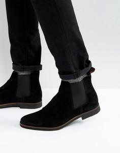 Замшевые ботинки челси Walk London Hornchurch - Черный