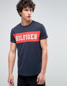 Черная футболка с логотипом на груди Tommy Hilfiger Denim - Черный