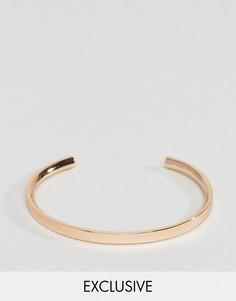 Розово-золотистый браслет-манжет Aetherston - Золотой