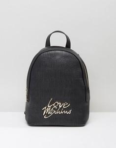 Структурированный рюкзак Love Moschino - Черный