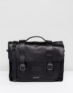 Черный кожаный портфель Dr Martens 15 - Черный