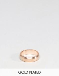 Кольцо с золотистым покрытием Simon Carter - Золотой