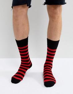 Красные носки в полоску Dr Martens - Красный