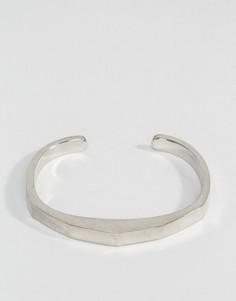 Серебристый премиум браслет-манжета Icon Brand - Серебряный