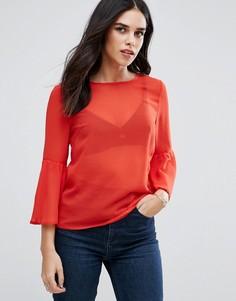 Топ с расклешенными рукавами AX Paris - Оранжевый
