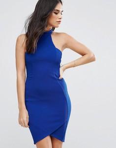 Платье миди из крепа AX Paris - Синий