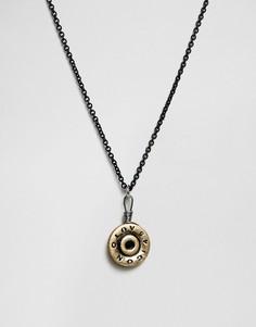 Черное матовое ожерелье с подвеской в виде пули Icon Brand - Черный