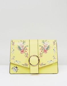 Сумка на плечо с цветочной вышивкой ASOS HERO - Желтый