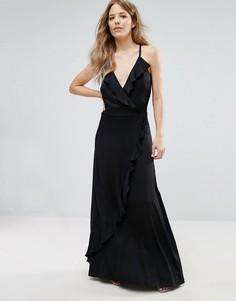 Платье макси с оборками Liquorish - Черный