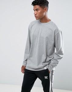 Серая футболка с круглым вырезом adidas Originals XbyO LS BQ3055 - Серый