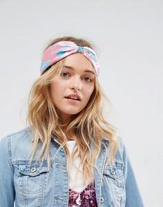 Повязка на голову с перекрученной отделкой и цветочным принтом ASOS - Мульти
