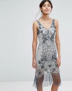 Платье-чарльстон с отделкой Frock and Frill - Серый