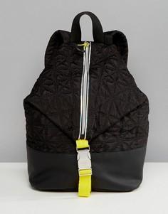 Черный стеганый рюкзак с молниями Fiorelli Sport - Черный