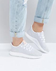 Белые кроссовки с розовыми бирками adidas Originals Tubular Shadow - Белый