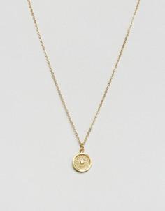 Ожерелье с подвеской-диском Ottoman Hands - Золотой