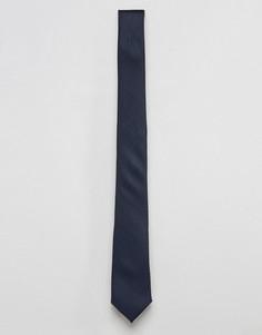Темно-синий фактурный галстук ASOS - Темно-синий