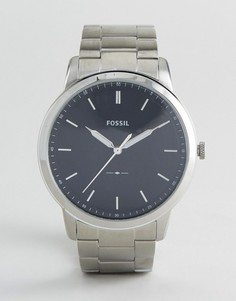 Серебристые часы Fossil FS5307 44 мм - Серебряный