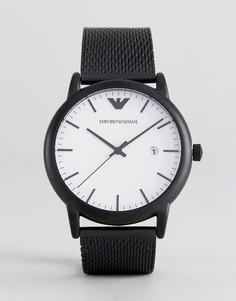 Черные часы 43 мм Emporio Armani AR11046 - Черный