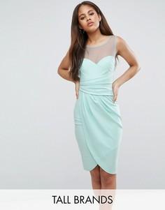 Платье миди с запахом City Goddess Tall - Зеленый